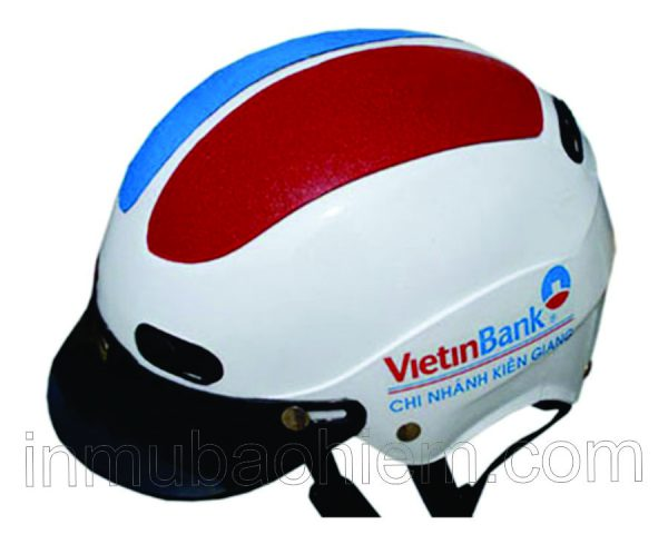 nón bảo hiểm 2 miếng vá in Vietinbank