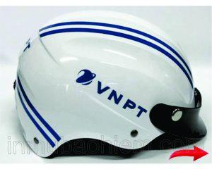 Nón bảo hiểm 2 khía in VNPT