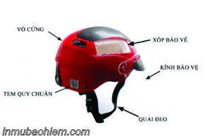 mũ bảo hiểm đạt tiêu chuẩn