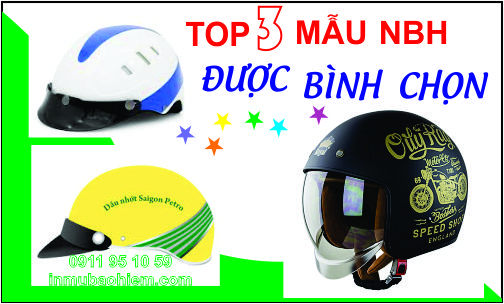 top 3 nón bảo hiểm chất lượng